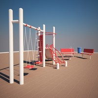 3d model of playground play