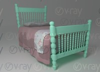 twin bed room 3d ma