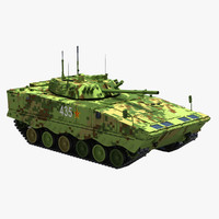 chinese zbd-04a pla ifv 3d model