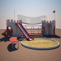 3d model castle park