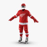 3d max hockey equipment detroit red