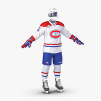 3ds hockey equipment montreal canadiens