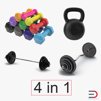 weights dumbbells 3ds