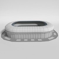 3d model soccer stadium