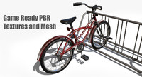 3d bicycle bike rack prop
