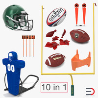football equipment 2 rugby ball 3d model