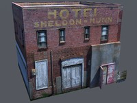 derelict small 3d dxf