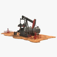 3d model of oil pumpjack