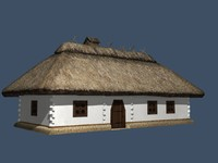old ukrainian house 19th 3d 3ds