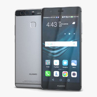 3d model of huawei p9 titanium gray