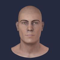 3d model realistic head