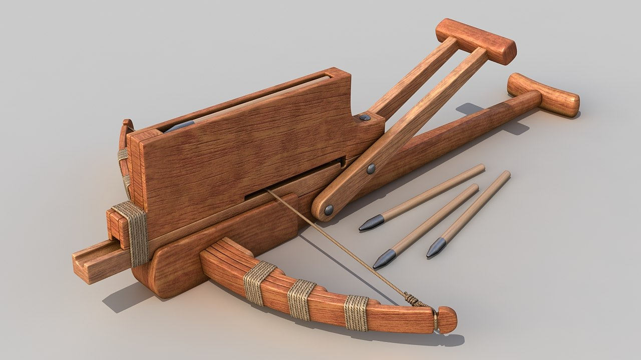 3d cho ko nu chinese crossbow weapon model