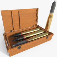 7.5 cm KwK 40 ammunition crate - Game ready with PBR textures