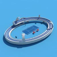 tennis stadium 3d c4d