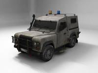 3d model military landrover