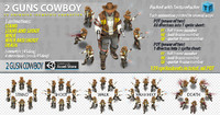 2D Cowboy 2Guns