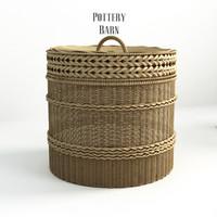 3ds pottery barn lidded barrel