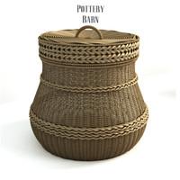 3d model pottery barn lidded barrel