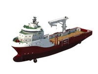 offshore construction vessel oscv 3d obj