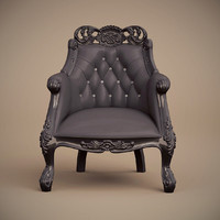 f b armchair single 3d model