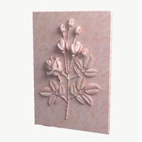 rose relief 3d model