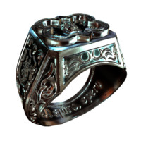 3d finger ring model