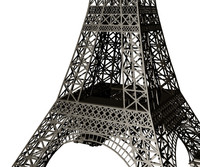 3dm eiffel tower simplified structure