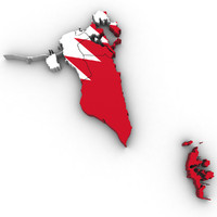 3d model bahrain regions country