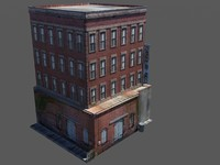3d model rundown hotel