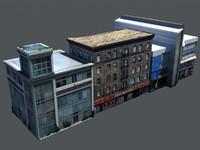 derelict buildings 3d model