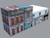 dilapidated buildings 3d model