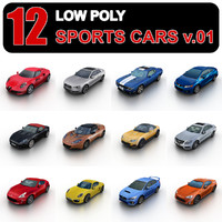 Low Poly Sports Cars v.01