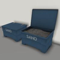 3d model sand boxes