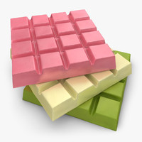 3d realistic chocolate bar 3