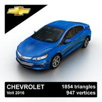2016 chevrolet volt 3d model