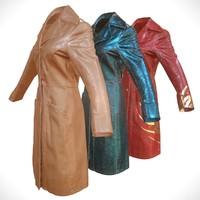 3d leather coat model