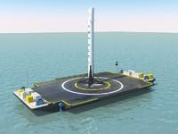 3d model autonomous barge falcon