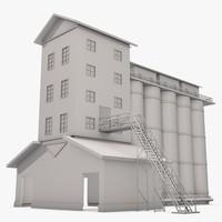3d dxf industrial building