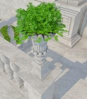 3d stone vase 03 model