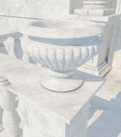 3d stone vase 05 model