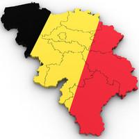 belgium country 3d max