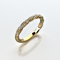 3ds wedding ring gemstones