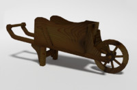 wheel barrel 3d obj