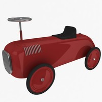 3d model retro toy car