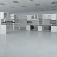 lab furniture typical set 3d obj