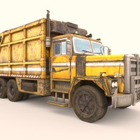 3d model garbage truck