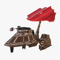 3d sail skiff model