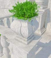 3d stone vase 07 model