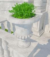 3d stone vase 08 model