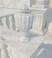 3d model stone vase 06
